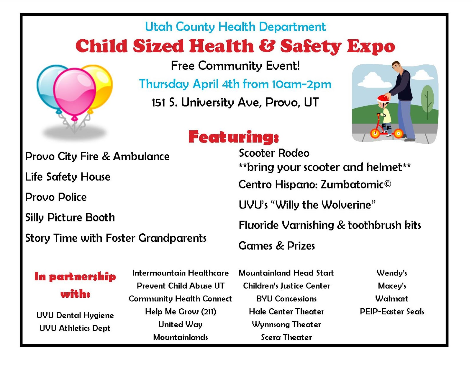Child Sized Health And Safety Expo Welcome Baby