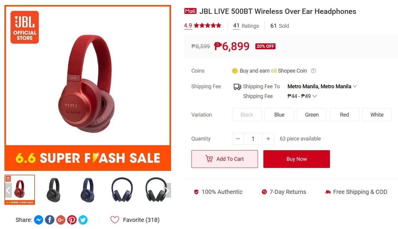 Level Up Your Workout Routine with these JBL Headphones You Can Score from Shopee this Independence Day