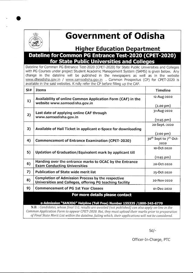 PG Common Entrance Test Odisha Questions PDF