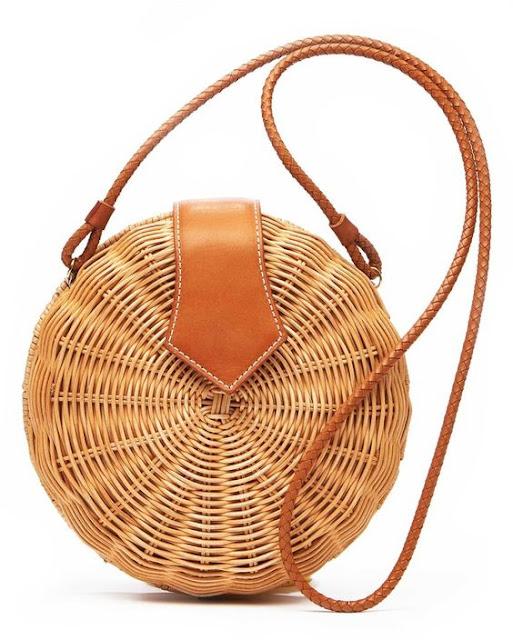 wiklinowa torebka okrągła