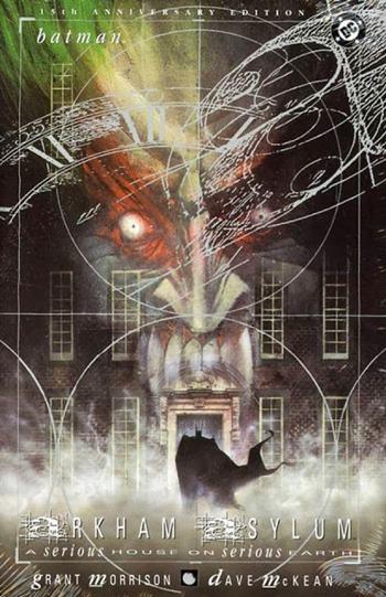 Portada de Batman: Arkham Asylum de Dave McKean