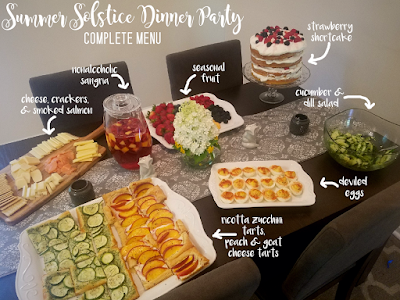 A Summer Solstice Dinner Party 2018 Menu