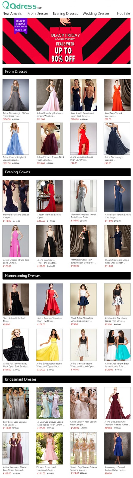 2016 black friday & cyber monday dresses deals