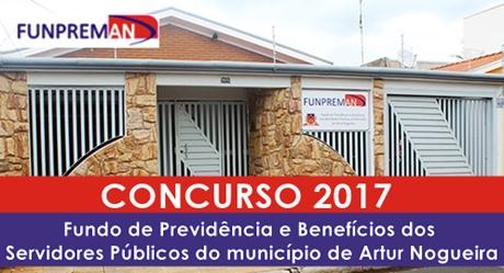 Concurso FUNPREMAN Artur Nogueira 2017