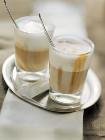 Latte Macchiato on a Tray