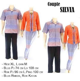 model baju batik sarimbit pasangan elegan