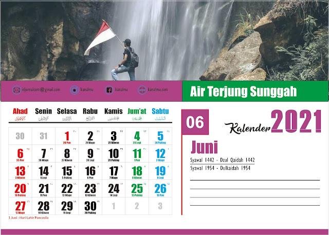 Kalender 2021 Bulan Juni