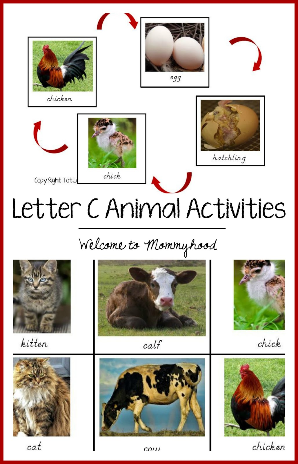 Welcome To Mommyhood Tot Labs Letter Cc Activities