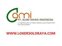Lowongan Kerja Wonogiri di PT Alam Manis Indonesia