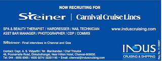 Recruitment to Steiner carnival cruise lines
