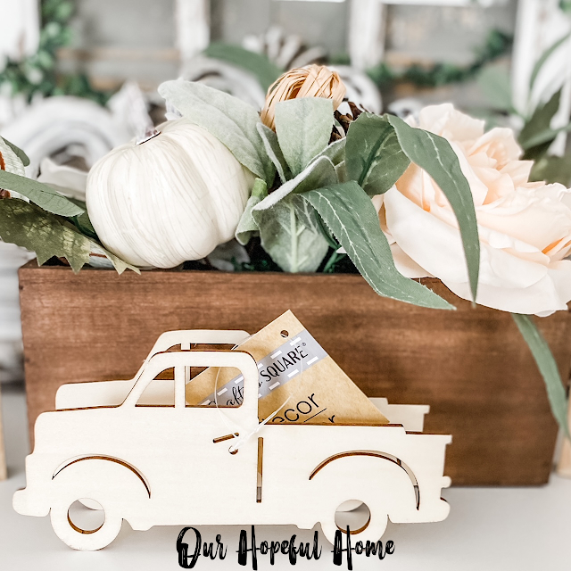 Dollar Tree Crafter's Square 3-d wooden pickup truck
