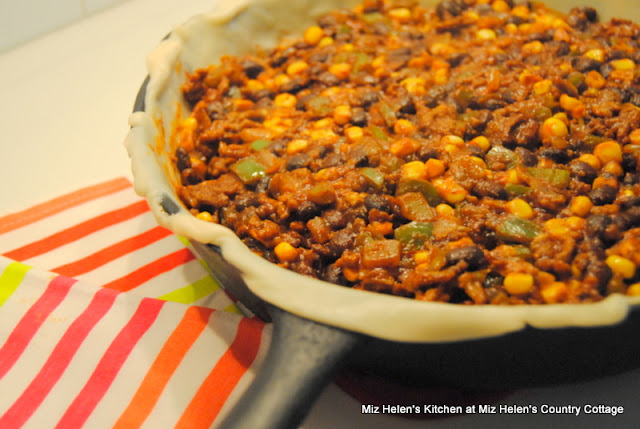 Mexican Skillet Pie at Miz Helen's Country Cottage