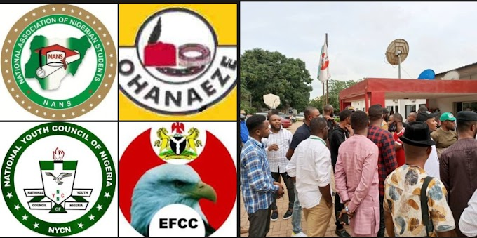 #Breaking: EFCC Offered Us Bribe, Published False Statement After We Rejected It, They Are Corrupt, Unethical - NANS, NYCN, Ohaneze Ndigbo Attack EFCC | CABLE REPORTERS