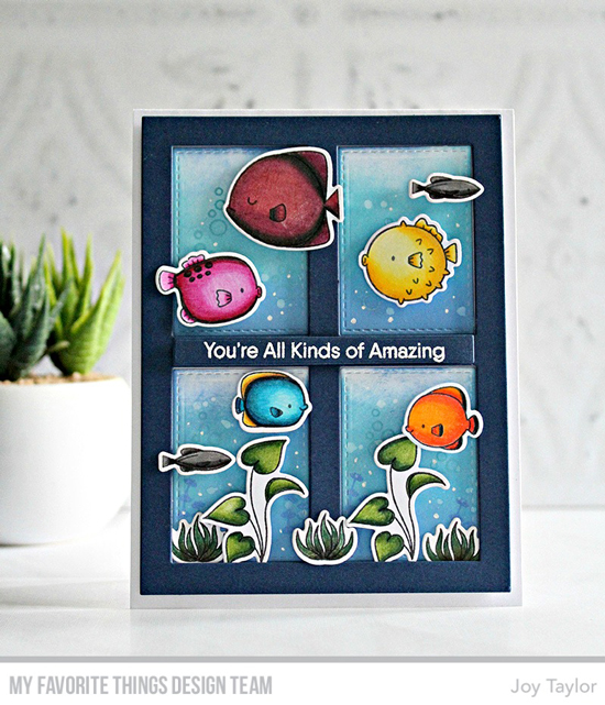 Handmade card by Joy Taylor featuring products from My Favorite Things #mftstamps