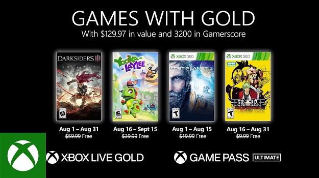 [Games with Gold]: Δυνατός μήνας ο Αύγουστος, με δωρεάν παιχνίδια αξίας $129!