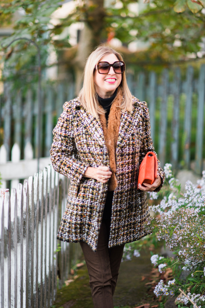 Talbots tweed coat