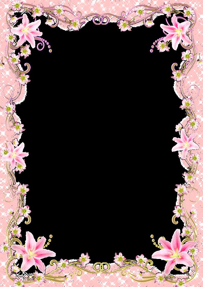 Frame Template, Floral Border Frame romantic pink line, pink flowers frame, frame, flower Arranging, golden Frame png free png