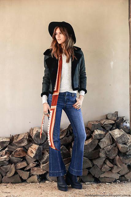 Moda invierno 2016. Ropa de mujer Tucci colección otoño invierno 2016, pantalones oxford de jeans.