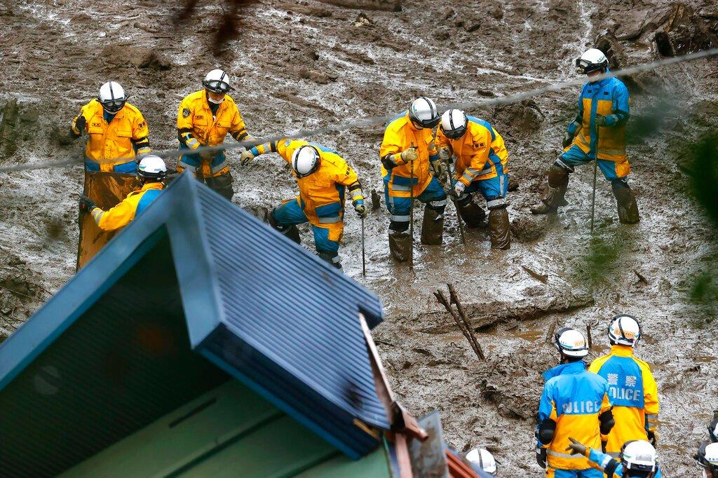 Three dead, 80 missing in Japan after torrential rain causes landslides
