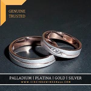 cincin kawin palladium pasangan 515pd