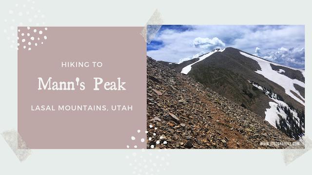 Hiking to Mann's Peak, LaSal Mountains