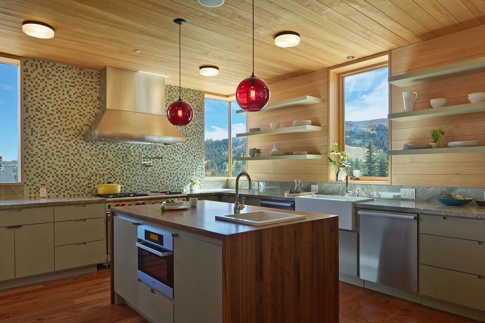 แบบห้องครัวเคาเตอร์ ทำจากไม้
