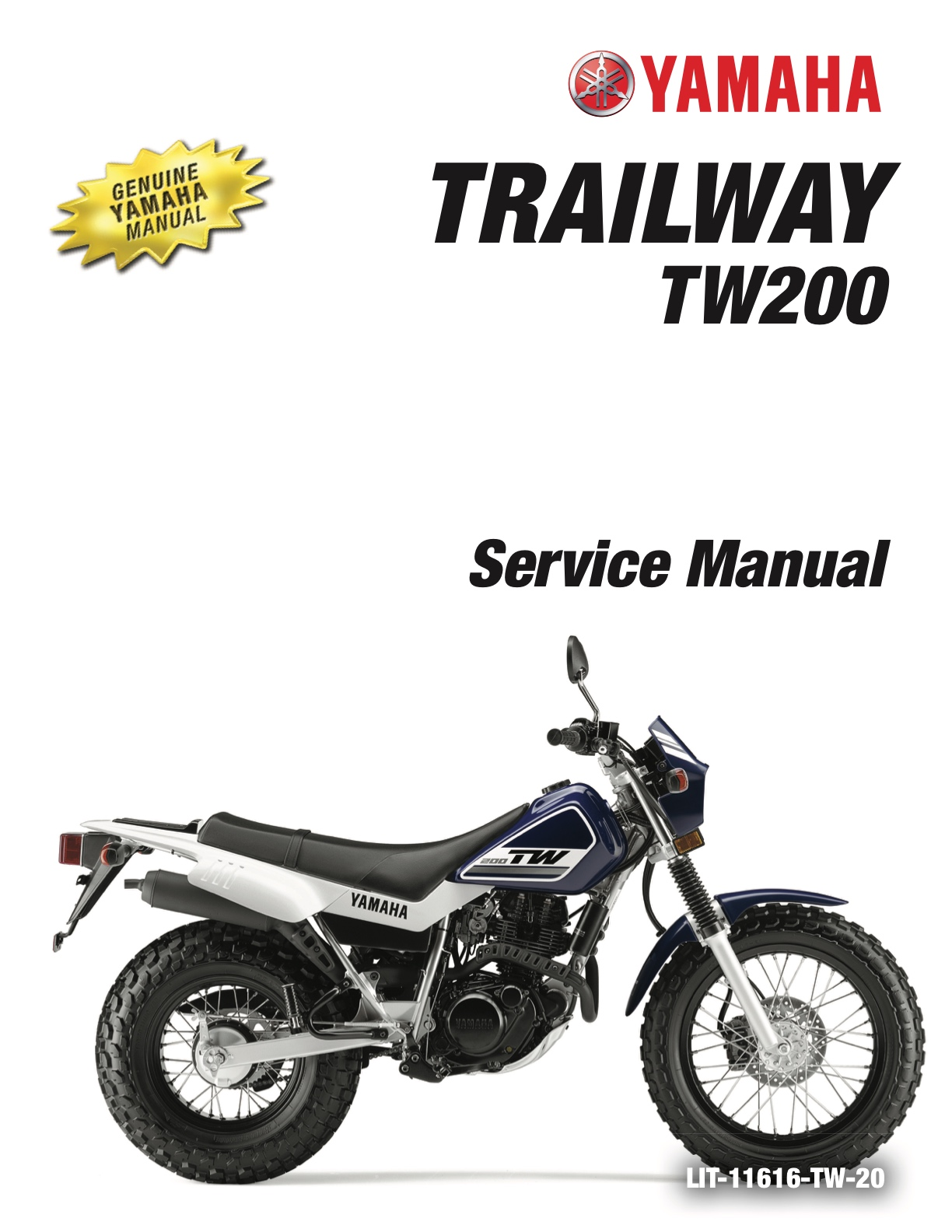 YAMAHA TRAILWAY TW200 2001-2019 Workshop Service Manual