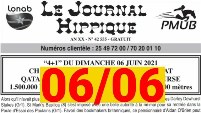 programme quinté Pronostic dimanche 06/06/2021