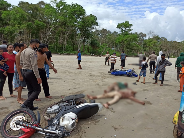 Bawa Motor Negbut, 1 Orang Tewas dalam Insiden Kecelakaan di Pantai Pasir Putih Ketapang