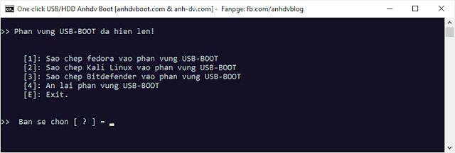 Show hidden partition USB-BOOT Anhdv