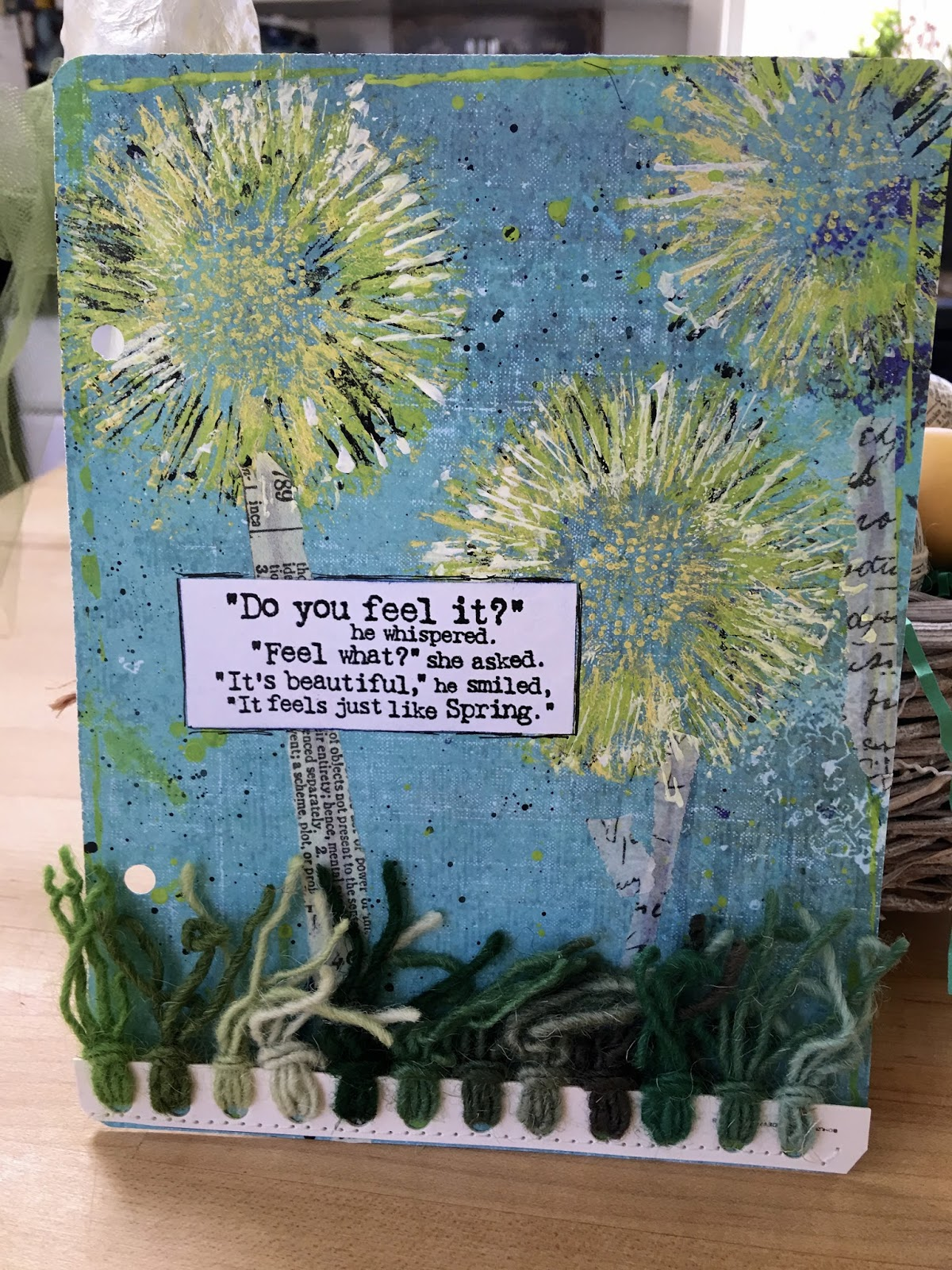 Of Sage And Sepia Dandelion Paper Towel Roll Flowers