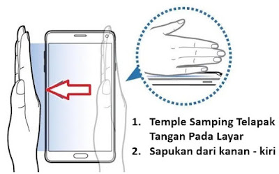 cara screenshot samsung a50 fitur palm swipe to capture