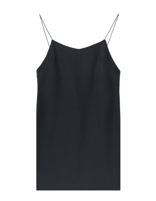 Zip Back Mini Slip Dress