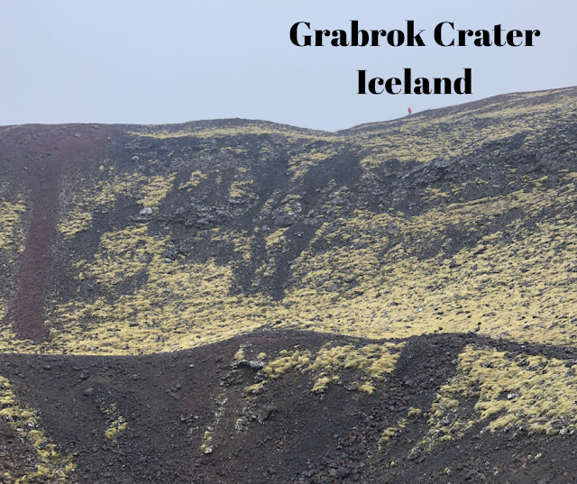 Climbing Grabrok Crater in West Iceland