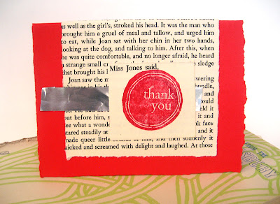 upcycled thank you card