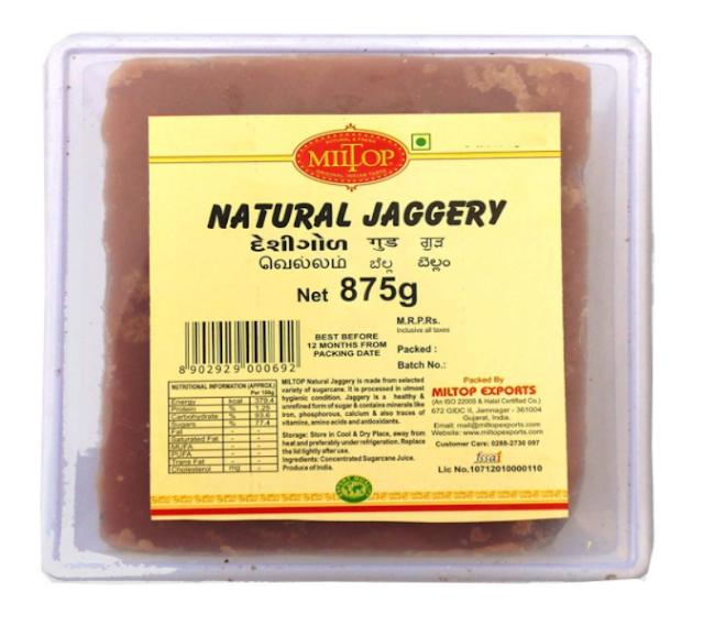 Miltop Natural Jaggery, 875g