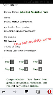 Federal Poly Nekede ND (Evening) Admission List