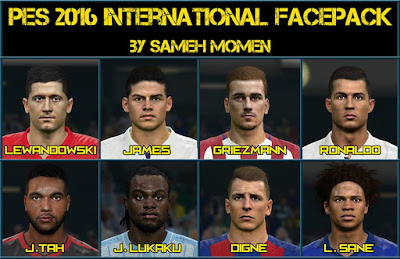 Pes 2016 international facepack by Sameh Momen