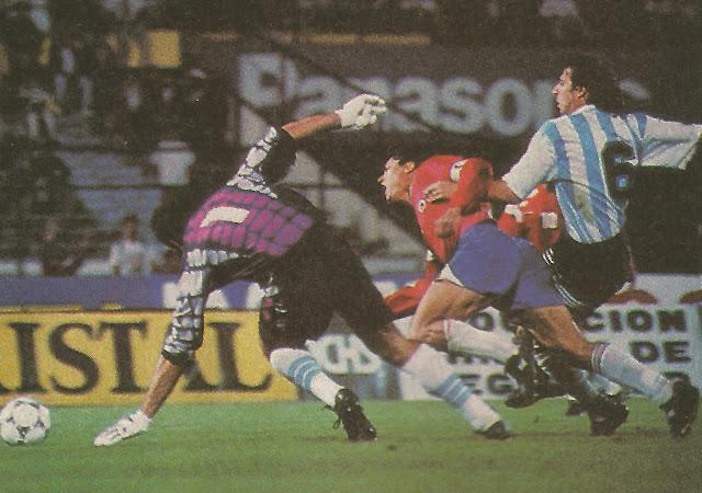 Chile y Argentina en partido amistoso, 16 de noviembre de 1994
