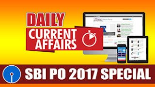 DAILY CURRENT AFFAIRS | SBI PO 2017 | 10.04.2017