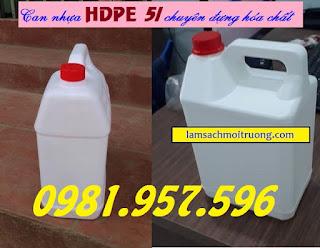 Can nhựa 5l, can nhựa HDPE, can nhựa đựng hóa chất