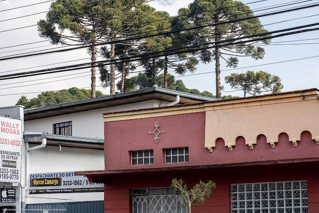 Casa na Rua Mateus Leme. Detalhe da platibanda e ornamento de ferro