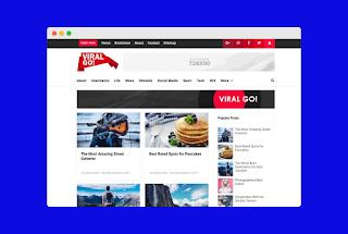 Viral go Blogger Template Premium Free Download  