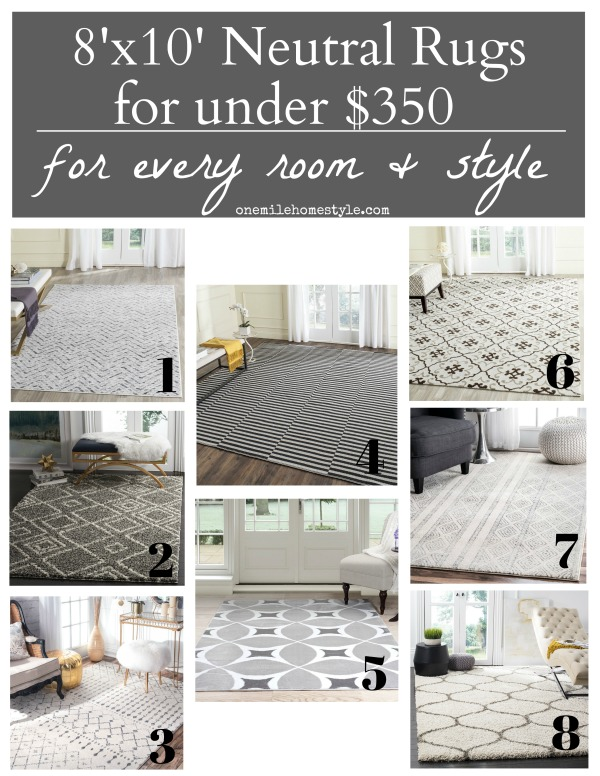 Large 8x10 Neutral Area Rugs Under $350, perfect for adding subtle design and warmth to any room in your home.