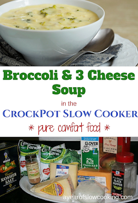 Broccoli and Cheese Soup is pure comfort food. This soup is completely made from scratch -- no cream of something soup, no velveeta, etc. When you are in the mood for the BEST BROCCOLI SOUP, EVER, make this recipe!! :-)