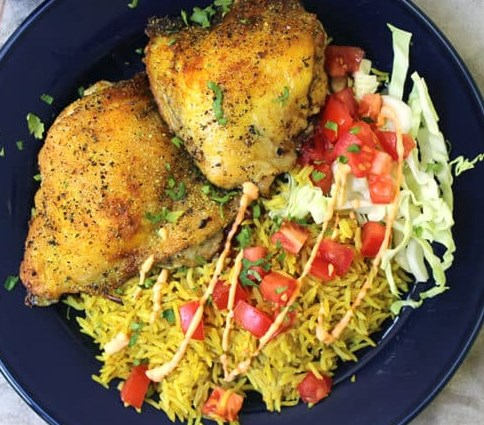 Halal Cart Chicken and Rice (Copycat) #dinner #lunch
