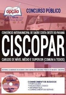 Baixar Apostila Concurso CISCOPAR 2018 PDF