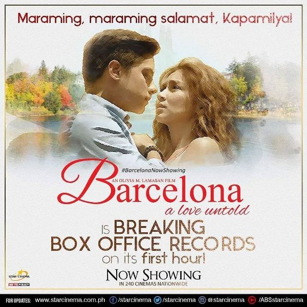 Bacelona: A Love Untold breaks box office record on its first hour