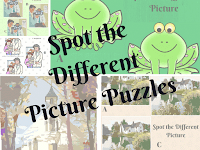 Spot the Different Picture Brain Teasers for teens