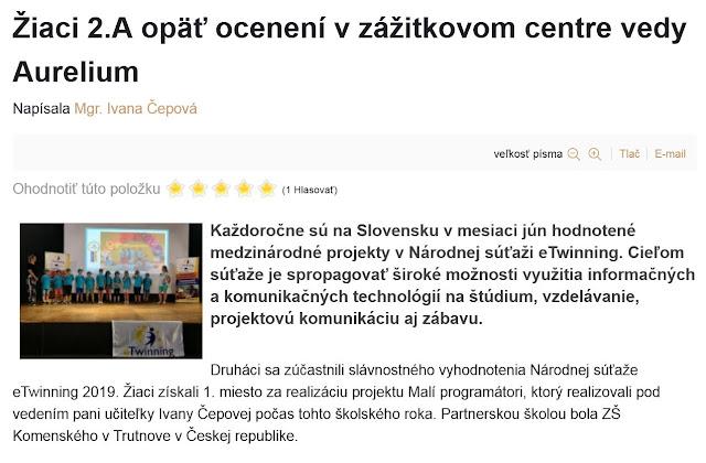 http://zshu.sk/index.php/nase-uspechy/uspechy-2018-2019/item/1309-ziaci-2-a-opaet-oceneni-v-zazitkovom-centre-vedy-aurelium